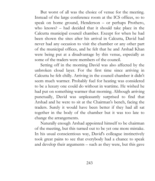 1942 - David's confrontation with the rice traders (page 243)
