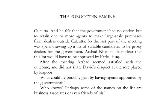 1942 - David's confrontation with the rice traders (page 246)